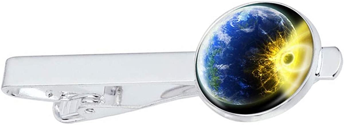 LooPoP Men Tie Clip Galaxy Comet B Pins Stainless Max 57% OFF Popular standard for Planet