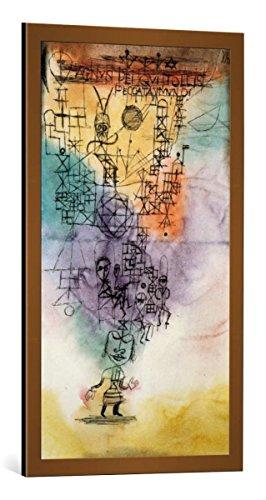 Kunst für Alle Cuadro con Marco: Paul Klee Agnus Dei qui tollis peccata Mundi - Impresión artística Decorativa con Marco, 50x90 cm, Cobre Cepillado