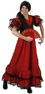 Atosa-95456 Disfraz Flamenca, Color Rojo, M-L (95456