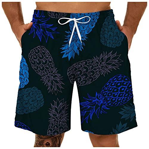YALFJV Mens Quick Dry Solid 4 Way Stretch Swim Trunks Mesh Lining Swimwear Bathing Suits USA Flag Board Shorts Men's Summer Quick Dry Swim Trunks Bathing Suit Shorts with Lining Men Boardshorts