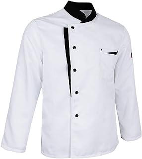 P Prettyia Uniforme Uniforme Di Servizio Ristoro Del Cappello Di Cameriere Dei Cappelli Del Cappello Del Cuoco Unico Della Maglia Bianca