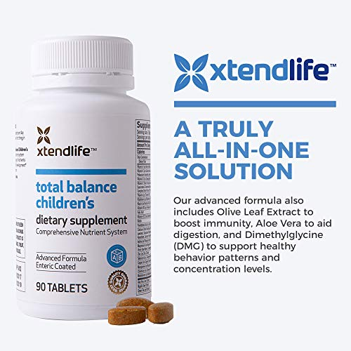 Xtend-Life Total Balance Children's Multivitamin - Kids Daily Supplement w/ Vitamin C, D3, & Calcium - Supports Your Child's Health, Brain, Energy, & Immunity - Ages 5-12 (90 Tablets)