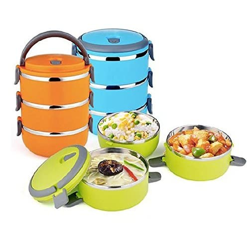 adb75ca27374 Metal Stackable Lunch Box: Amazon.com