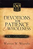 Devotions for Patience and Wholeness