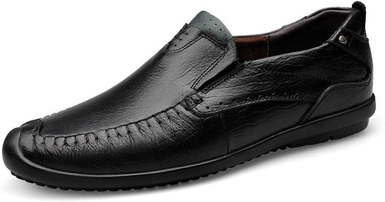 EGS-schuhe Fashian Herren Business Casual Schuhe Papa Schuhe,Grille Schuhe (Farbe   Schwarz, Größe   43)