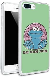 Sesame Street Cookie Monster Om Nom Nom Protective Slim Fit Hybrid Rubber Bumper Case Fits Apple iPhone 8, 8 Plus, X