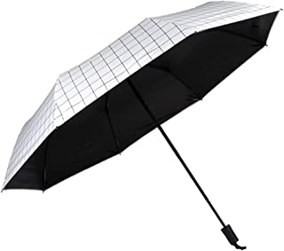 Umbrella Compact Rain&Wind Teflon Repellent Umbrellas Sun Protection with Black Glue Anti UV Coating Travel Manual Folding Umbrella