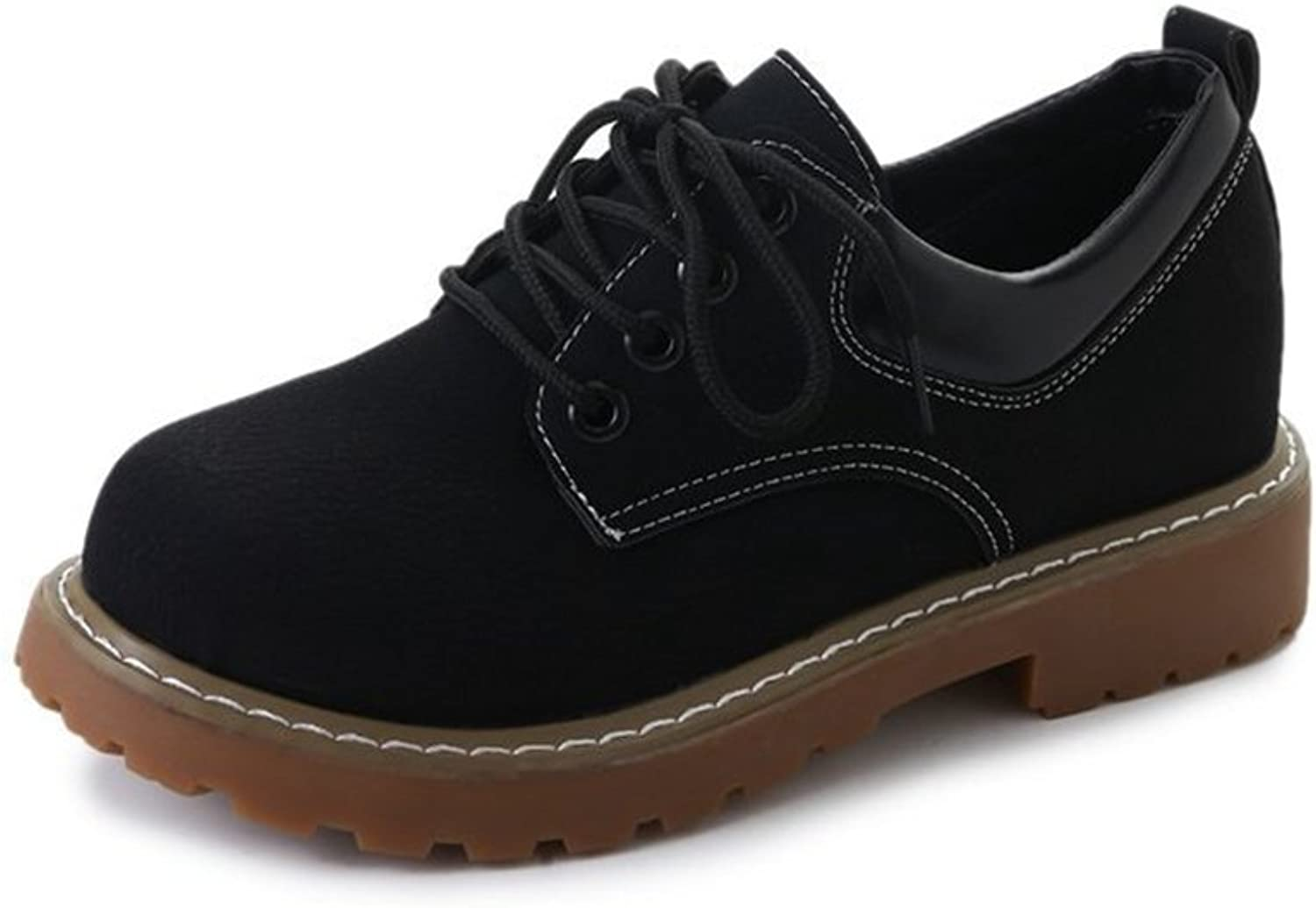 T-JULY Women's Fashion Oxfords shoes - Comfy Performance Lace-up Low Heel Casual shoes