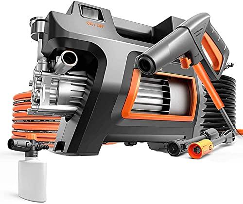 MARHD Lavadora A Presión Eléctrica, Mejorada 1300 W, Presión 105 Bar, Grifo/Autocebante De Doble Propósito, Adecuada para Lavado De Autos (Size : Long Gun+Induction Pressure Gauge)