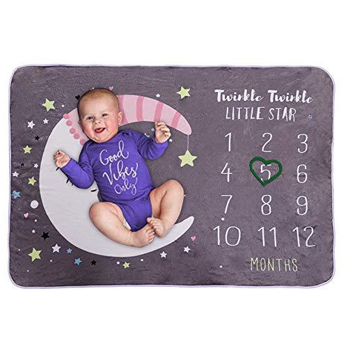 Gojiny Manta mensual para bebé recién nacido para fotografía de bebé