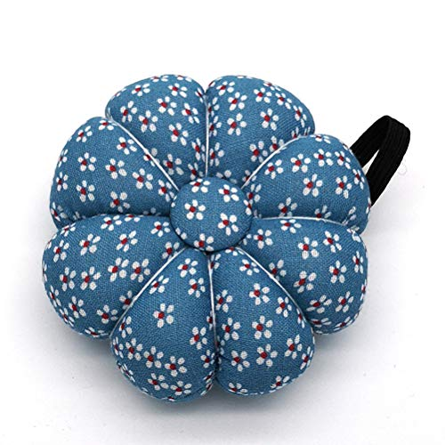 Diyiming Pumpkin Style Pin Cushion Pillow Needles Holder Sewing Craft Wrist Strap Sewing Accessories