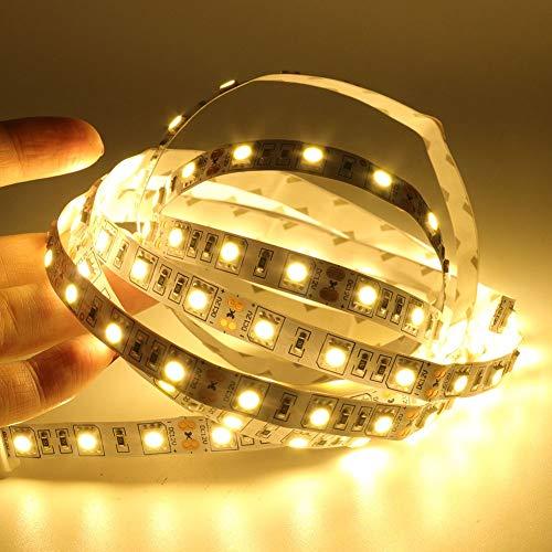 Tira de luz LED 5050 1 m, 2 m, 3 m, 4 m, 5 m, 30 cm, 50 cm, USB DC 5 V, cinta de luz LED para TV, retroiluminación para decoración del hogar (color emisor: USB blanco cálido, longitud: 3 m)