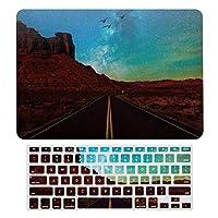 銀河の月 ハイウェイ MacBook Air 13 インチ ケース 衝撃吸収 薄型 対応 A1466/A1369 MacBook Air 13 キーボードカバー ラップトップ MacBook Pro 13 キーボードカバー MacBook Pro 13 インチ ケース カバー A1706/A1989/A2159
