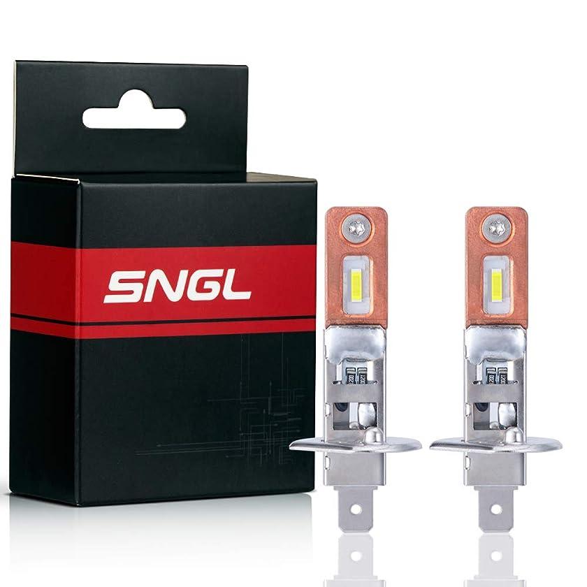 SNGL H1 LED Fog Light bulbs 6000K White Super Bright without Glare for Fog lights or DRL(Pack of 2)