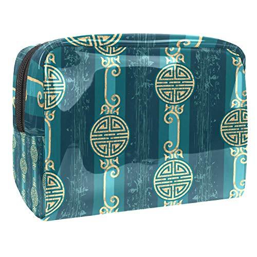 Trousse de maquillage portable avec motif de fleur de papillon, sac de maquillage pour les voyages pour les femmes et les hommes Multicolore Couleur 5 18.5x7.5x13cm/7.3x3x5.1in