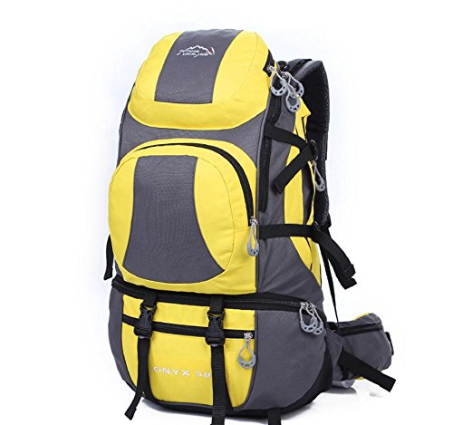 Voyage sacs à dos sac à dos de sports de plein air 38 L randonnée , yellow