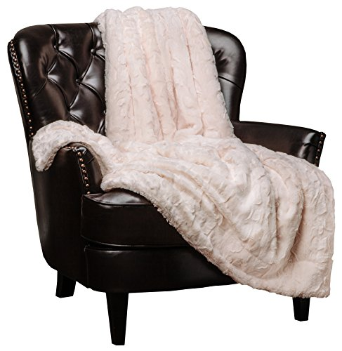 Chanasya Super Soft Fuzzy Faux Fur Throw Blankets - Fluffy Plush Lightweight Cozy Snuggly with Sherpa for Couch Sofa Living Room Bedroom - Cream Fall & Winter Home Decor (50x65 Inches) Ivory Blanket