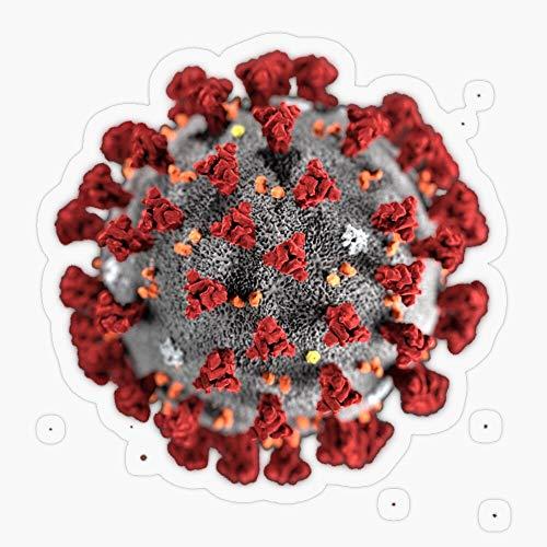 Lplpol Set di 3 adesivi in vinile anti-polvere Coronavirus adesivi in vinile per auto, computer portatile, decalcomania per bottiglia d'acqua da 10,2 cm