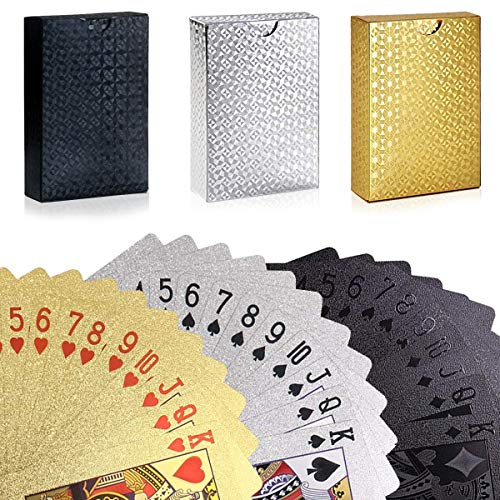 U&X 3 Deck of Cards, Waterproof PET Degradable Poker Playing Cards, Classic...