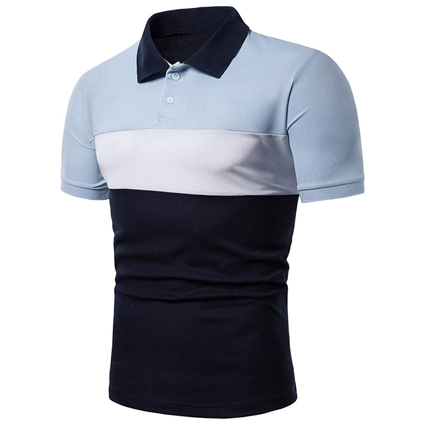 Men's Fashion Business Polo Shirt,MmNote Active Performance Sports Short Sleeve Textured Design Classic Fit Modern Fit
