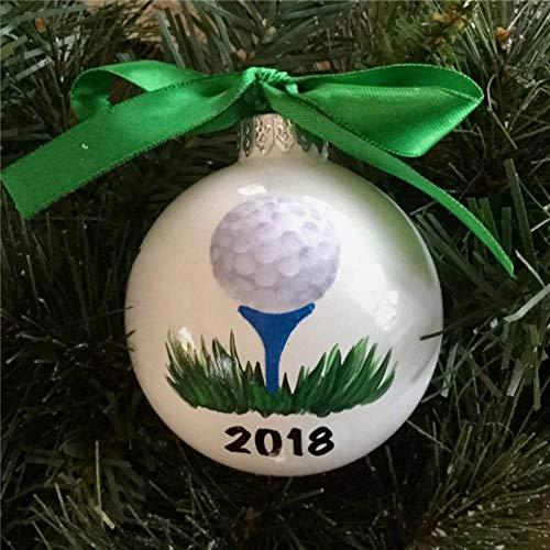 DONL9BAUER Bolas de Navidad Adornos Personalizados Bola de Golf Colgante para Árbol de Navidad Deportes Inastillables Decoraciones de Navidad para Vacaciones Boda Fiesta