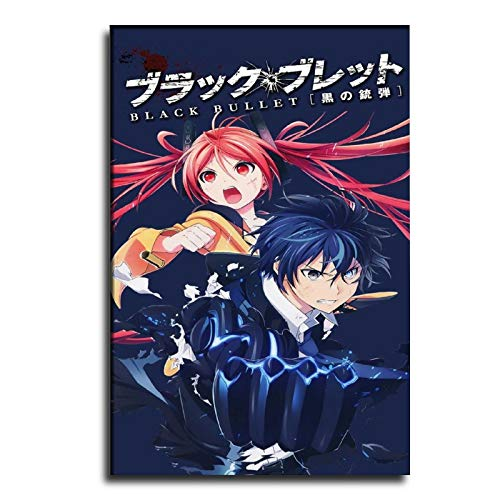 GDFG Japanese Anime Black Bullet Comic Cover 24x36 Poster Frame Poster Decorative Painting Canvas Wall Art Living Room Posters Bedroom Painting 24×36inch(60×90cm)