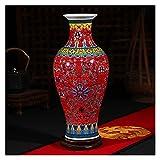 NINGLIU Cerámica China Luxury Jingdezhen Antiguo Longevidad Porcelana Esmalte de Esmalte Piso Decoración clásica Jarrones Chinos Grandes Jarrones Antiguos Palacio Jarrones (Color : 8)