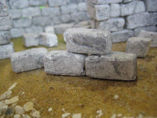 250 rechteckige Ruinen-Bausteine für Krippenbau und andere - 5
