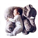 Tickos Cuscino Elefante per Neonati Affidabile Cuscino per Elefante Coccolone Cuscino per Elefante Divertente per Bambini (Grigio)
