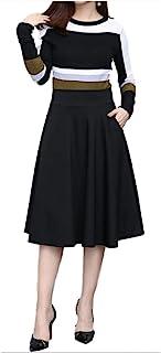 [エムズ ミミ]無地 シンプル ロング スカート ポケット 付き レディース 選べる長さ ブラック レッド M~XXL