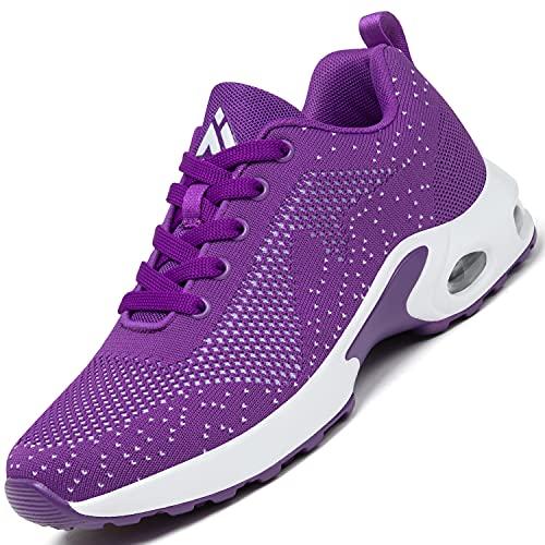 Mishansha Air Chaussures de Sport Femme Respirantes Running Trail Chaussure Dame Léger Fitness Jogging Sneakers Violet N GR.39