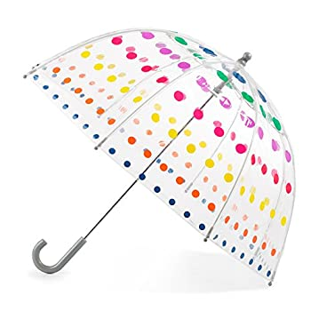 totes Kid s Clear Bubble Umbrella with Easy Grip Handle Dots