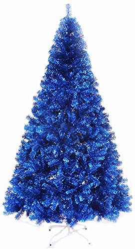 TY&WJ 4ft Royal Blue Unlit Artificial Christmas Tree,Premium Hinged Spruce Full Tree,Eco-friendly Xmas Pine Tree With Foldable Metal Stand For Indoor Outdoor