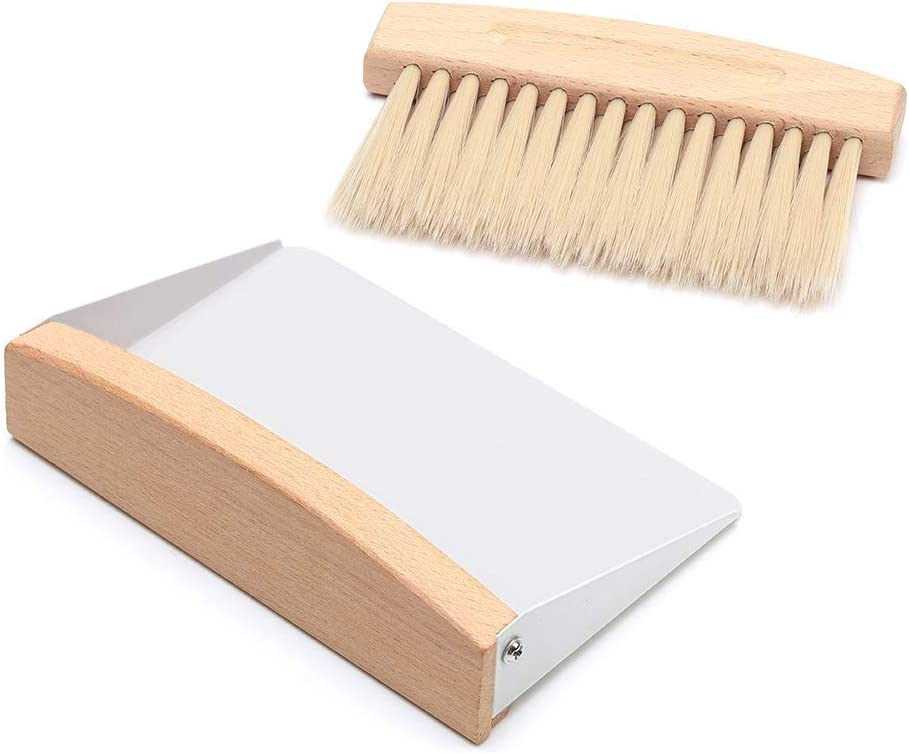 Mini Dustpan and OFFicial Max 45% OFF store Brush Set Wood Pan Metal Dust Tab Natural Small