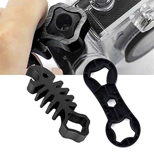Llave de espina de pescado Juego de llaves de tornillo de tuerca multiusos DIY Llave de bicicleta de acero inoxidable Herramienta de apriete de cámara Gopro para GoPro Hero 4/3 + / 3/2 / 1 (A+B)