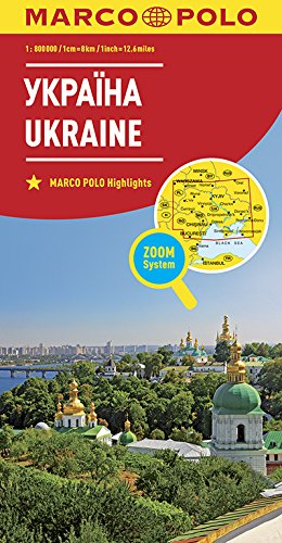MARCO POLO Länderkarte Ukraine1:800 000: Wegenkaart 1:800 000 (MARCO POLO Länderkarten)