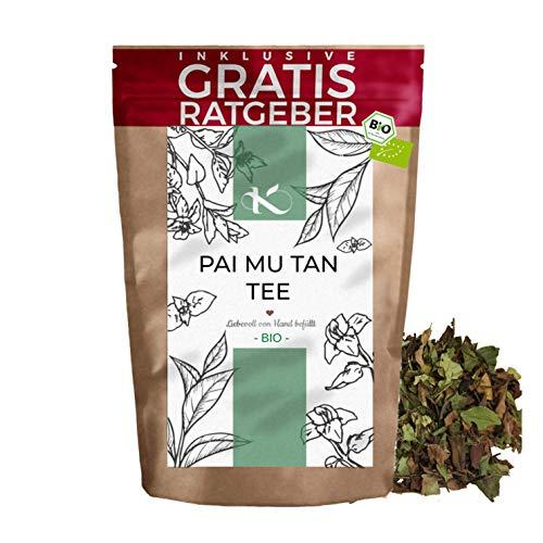 Pai Mu Tan Weißer Tee BIO 250g I Premium weisser Tee Bai-Mudan I hochwertiger natürlicher loser Tee I Krautberger Tee ohne Zusätze in BIO Qualität I inkl. gratis Ratgeber