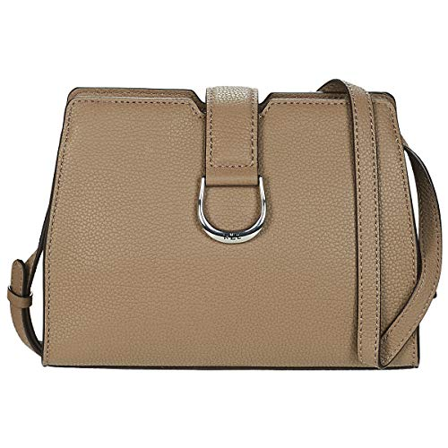 LAUREN RALPH LAUREN KENTON CITY CROSSBODY-MEDIUM Schoudertassen femmes Taupe Schoudertassen met riem