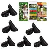 ATTRAC 12 Stück / 6 Paar Nordic Walking Pads für alle gängigen Walking-Stöcke Modelle I Pad Gummipuffer Set ideal für Asphalt inklusive Fitness App