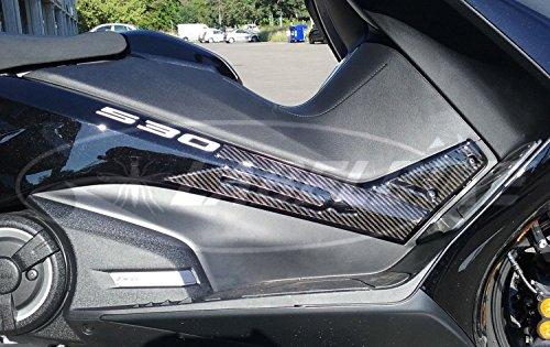 Kit Autocollant Résine Tmax 530 Boomerang Compatible pour Yamaha T Max à partir de 2017 - Carbone Argent