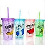 Best Baby Straw Cups - DEALPICK AMZY Plastic Ice Bottle with Straw Review