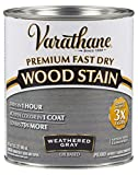 Varathane 269394 Premium Fast Dry Wood Stain, Quart, Weathered Gray