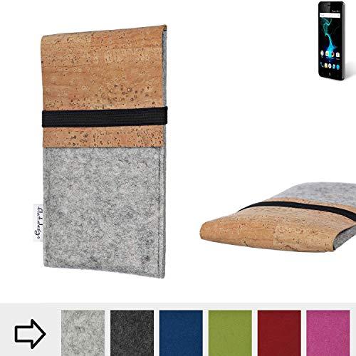 flat.design Handy Hülle SAGRES für Allview P6 Pro handgefertigte Handytasche Filz Tasche Schutz Case fair Kork