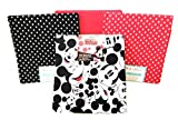 1 OM Disney Mickey Mouse Fat Quarter Collection - 4 Piece Set - 18 inches x 21 inches Each