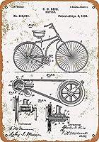 自転車のデザイン-ティンサインヴィンテージノベルティ面白い鉄の絵の金属板