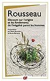 Discours sur l'origine et les fondements de l'inégalité parmi les hommes - Format Kindle - 2,49 €