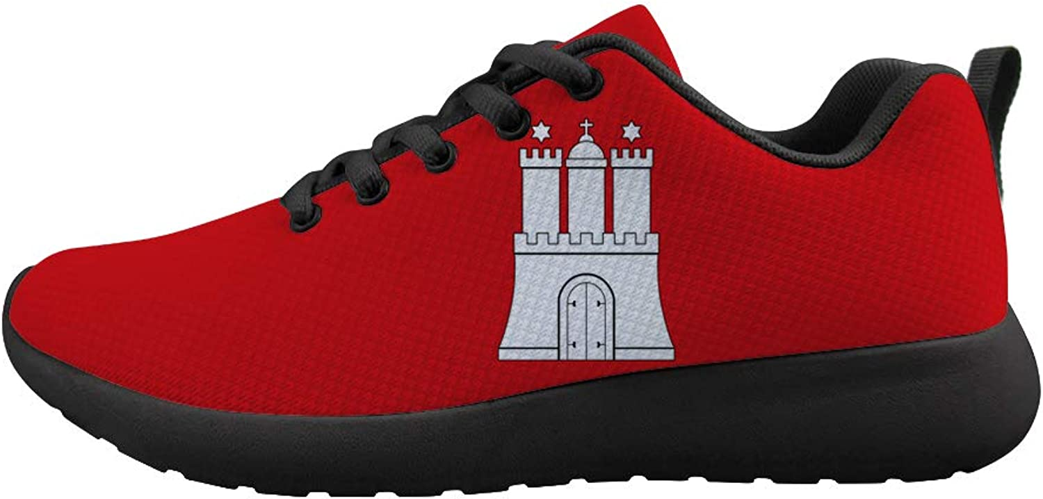 Owaheson Cushioning Sneaker Trail Running shoes Mens Womens The Hanseatic League Hamburg Flag