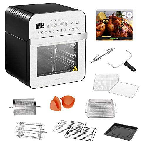 GoWISE USA GW44804 Air Fryer Toaster Oven with Rotisserie + Dehydrator and 11...