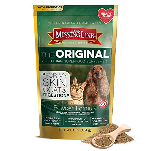 The Missing Link Original Vegetarian Skin, Coat & Digestion Powdered Supplement For Dogs & Cats, 1 lb Resealable Bag