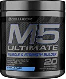 Cellucor M5 Ultimate Post Workout Powder ICY Blue Razz | Muscle & Strength Building Supplement | Creatine Monohydrate + Creatine Nitrate + Creatine HCL + HMB | 20 Servings